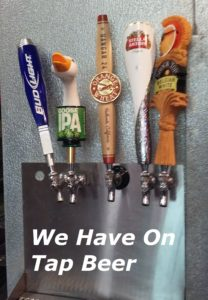 On tap beer